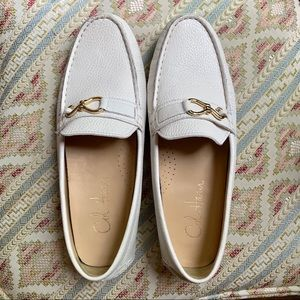 Cole Haan Nike Air White  Leather Driving Shoes